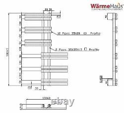Designer Bathroom Heated Warming Towel Rail Radiator Rad 1000 x 550 mm White