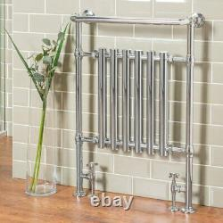 Designer Bathroom Traditional Heated Towel Radiator Rail Warmer 952x659mm Chrome