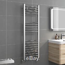Designer Chrome Ladder Towel Rail Central Heating Bathroom Radiator with Valves