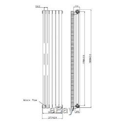 Designer Double Panel Vertical Central Heating Radiator 1800 x 377mm White