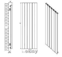 Designer Flat Oxidised Aluminium Vertical Column Radiator Central Heating Carisa