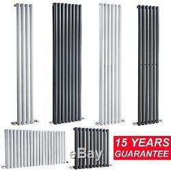 Designer Flat Panel Column Radiators Double & Single Central Heating UK NEW
