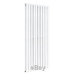 Designer Flat Panel Column White Radiators Central Heating + Free Angled Valves