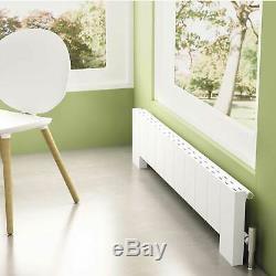 Designer Flat White Aluminium Horizontal Floor Radiator Central Heating Carisa