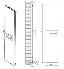 Designer Mirror Chrome Aluminium Vertical Wall Radiator Central Heating Carisa