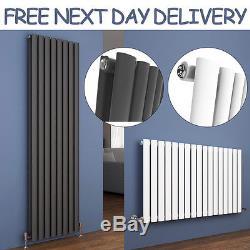 Designer Oval Column Tall Upright Central Heating Radiators Vertical&Horizontal