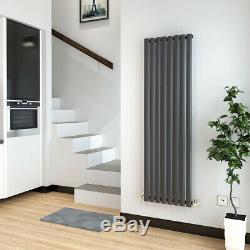Designer Radiator Anthracite Vertical Horizontal Oval Column Rad Central Heating
