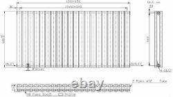 Designer Radiator Horizontal White Oval Column Rads Double Panel 600x1200mm