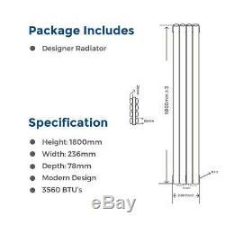 Designer Radiator Tall Vertical Oval Column Panel Radiators Central Heating
