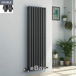 Designer Radiator Vertical Horizontal Flat Panel Oval Central Heating Anthracite
