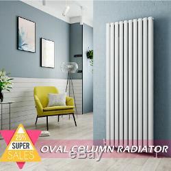 Designer Radiator Vertical Oval Column Panel Rad Central Heating White Bathroom