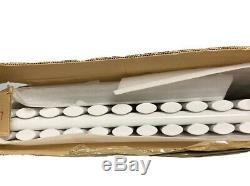 Designer Radiator White Oval Column Horizontal Central Heating Radiator 635x1003