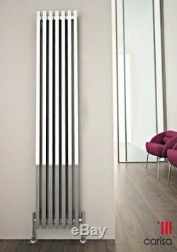 Designer Square Chrome Steel Vertical Column Radiator Central Heating Carisa