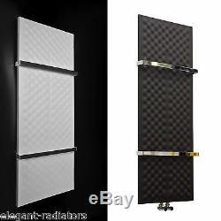 Designer Towel Rail Central Heating Bathroom Radiator Black or White Chrome Bars