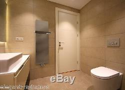 Designer Towel Rail Rad Central Heating Bathroom Radiator Stainless Steel Mirror