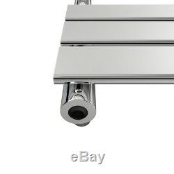 Designer Towel Rail Radiator Chrome Flat Panel Bathroom Central Heated Vertical