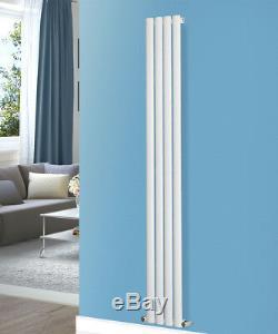 Designer Vertical Modern Upright Oval Single Column Radiator UK Central Heating