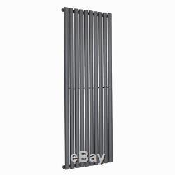 Designer Vertical Oval Column Radiator Anthracite Central Heating Rad 1600x590mm