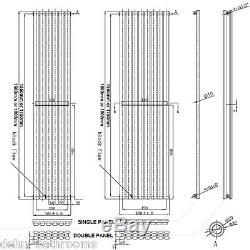Designer Vertical Radiator Tall Upright Oval Column Panel Central Heating UK