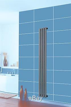 Designer Vertical Radiator Upright Oval Column Central Heating Rad Anthracite