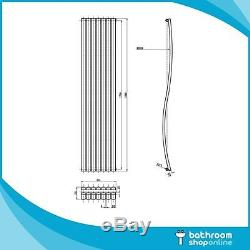 Designer Wave Anthracite Column Radiators Vertical Central Heating Panel