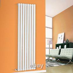 Designer White Radiator Horizontal Vertical Flat Panel Oval Column Heating Rads