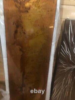 Distressed Etched Solid Copper Designer Radiator Vertical 505/1805mm 3300btu