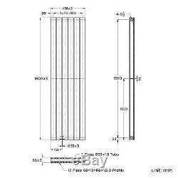 Double Flat Panel Vertical Radiator Bathroom Central Heated Rad 1600 x 452mm