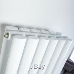 Double Modern Designer Vertical Central Heating Radiator 1800mm x 353mm White