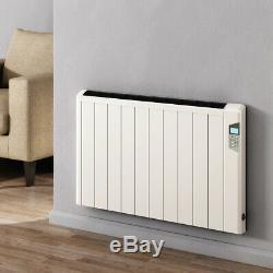Electric Designer White Aluminium Horizontal Radiator Central Heating Reina