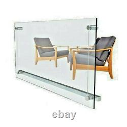 Electric Infrared Glass Panel Heater Radiator Wall Mounted 500W 240V
