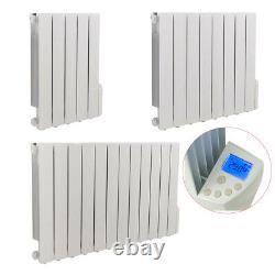 Electric Oil Filled Radiator LCD 24 Hour Timer Thermostatic Wall Mounted Heater