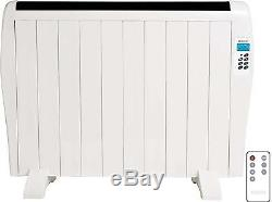 Electric Panel Heater Radiator 1.5KW Wall Mounted With Timer Convector Aluminium