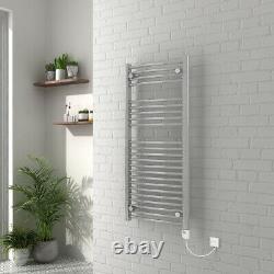Electric Thermostatic Bathroom Heated Towel Rail Radiator 1100 x 500 mm 250W
