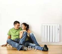 Elektroheizer Infrarot Heizkörper mit digitalem Thermostat + Wandhalterung 750 W