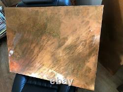Etched Distressed Copper Horizontal Designer Radiator 600/1200 4400btu To Order