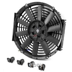 FOR 79-93 MUSTANG FULL ALUMINUM 3-ROWithCORE RACING RADIATOR+COOLING BLACK FANS