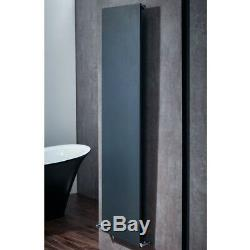 Flat Modern Designer Vertical Central Heating Radiator 1800 x 400mm Anthracite