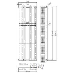 Flat Modern Designer Vertical Central Heating Radiator 1800 x 600mm Anthracite