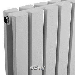 Flat Panel Column Designer Radiator Modern Bathroom Central Heating Rad Silver