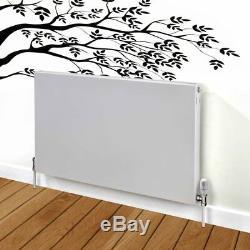 Flat Panel Horizontal Type 22 Central Heating Radiator 500mm x 600mm White