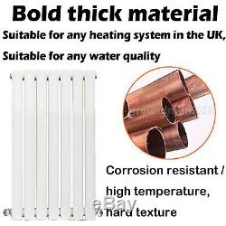 Flat Panel Oval Column Radiator Heat Horizontal Central Heating White/Anthracite