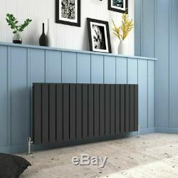 Flat Panel Radiator Anthracite White Double Horizontal Column Central Heating