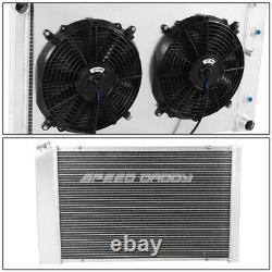 For 78-87 Chevy Camaro/century/cutlass 3-row Aluminum Racing Radiator+fan Shroud