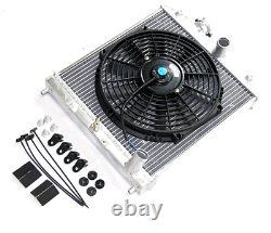 For 96-00 Honda Civic EK 2/3/4 door Aluminum Radiator MT Manual Trans Black Fan