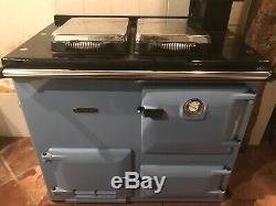 Gas BLUE Rayburn 380G central heating radiators, hot water, oven & hob