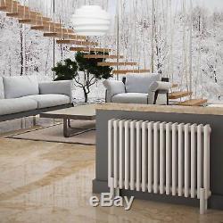 Gloss White Horizontal Column Radiators Central Heating 15 Year Guarantee