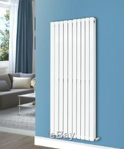 Gloss White Vertical Designer Radiator Bathroom Central Heating Rads 1600x680 mm