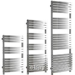 Greeba Chrome Flat Panel Designer Heated Towel Rail Radiator Central Heating