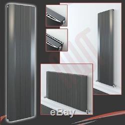 HIGH BTU! Aluminium Designer Cariad Anthracite Vertical & Horizontal Radiators